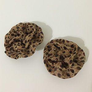 cheetah animal print Hair bows