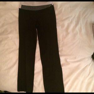 Flare black lululemon pants