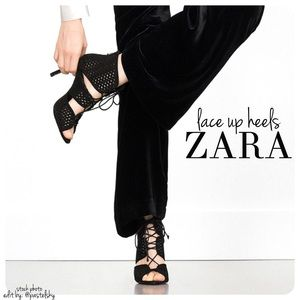 🆕 ZARA lace up heels