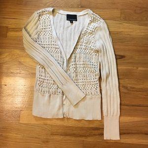 Cynthia Rowley crochet front cardigan