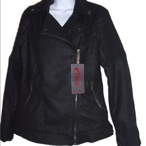 Yoki Women's Outerwear Coat Side Zipper Jacket