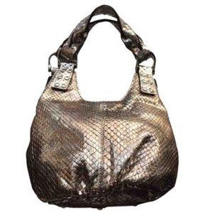 Be & D Handbags - NEW! Be&D Genuine Metallic Snakeskin Mini Satchel