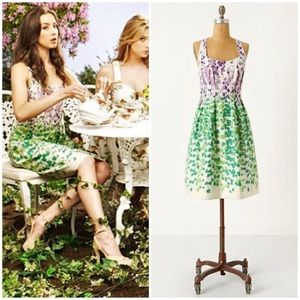 Anthropologie Wisteria Halter Dress