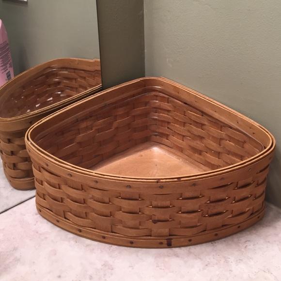 Longaberger Corner Hamper Basket Liner Only Denim NIB
