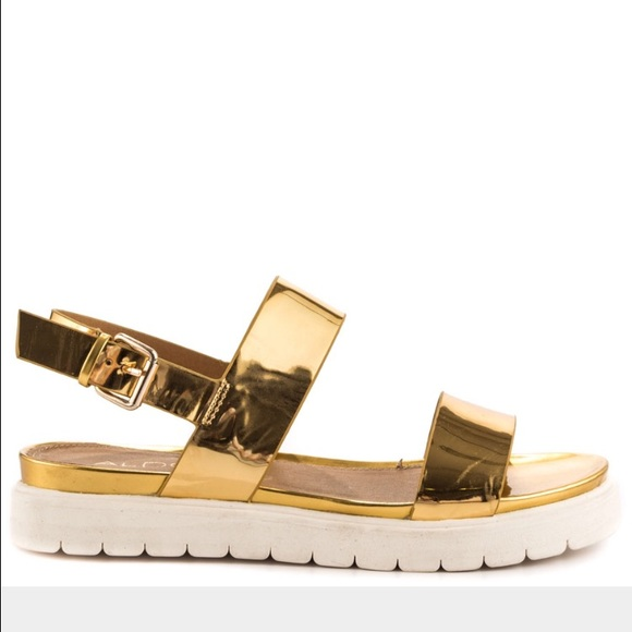 7f13b4c085a ALDO Shoes - Aldo Gold platform Two strap sandals