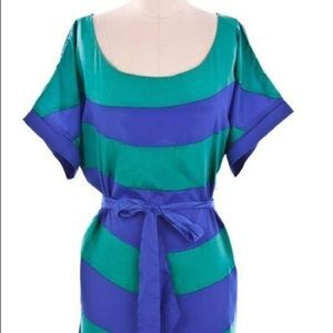 Plus size Teal and Blue Block Dress 1X or 3X