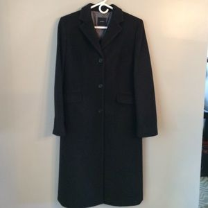 Classic JCrew coat in dark charcoal gray