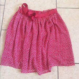 Betsey Johnson red chiffon skirt