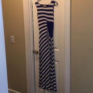 Dresses & Skirts - Royal Blue and White stripe maxi dress