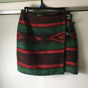 The Limited Dresses & Skirts - Aztec print wool skirt