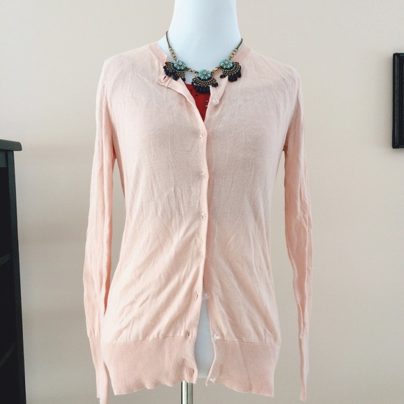 Old Navy - Old navy light pink button up cardigan sweater from ...