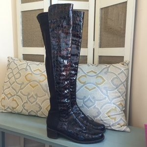 Stuart Weitzman 5050 Boots in Croc Leather