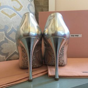 Authentic Miu Miu Calzature Donna Pumps w/ Glitter