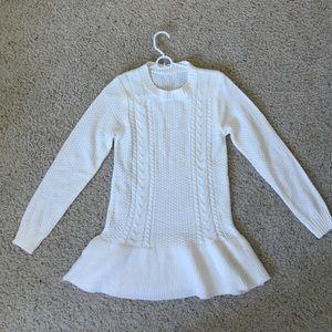Luxe Crochet Peplum Sweater