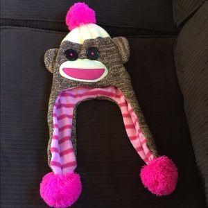 Sock monkey hat!