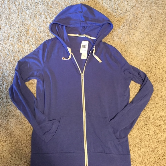 NEW Abbot Main Women/'s Full Zip Hoodie Jacket Size S Small Color Blue