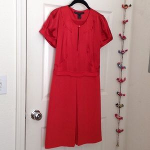 Marc by Marc Jacobs red silk dress