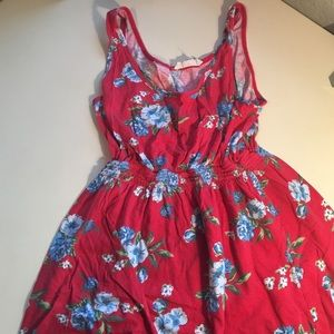 Forever 21 Red Floral Tunic Sz S