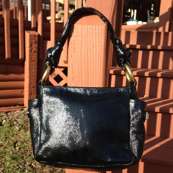 0640d44d3c Coach Bags   Resort Black Patent Leather Top Handle Bag   Poshmark