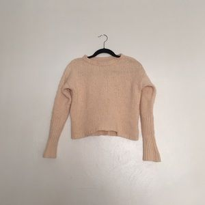 Cream, Almost Yellow Cropped Sweater
