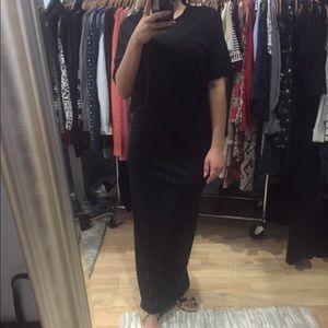 Iro Jeans Black Maxi Dress