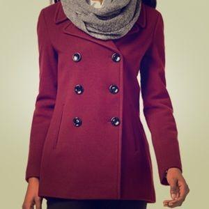 Calvin Klein Wool-Cashmere-Blend Peacoat