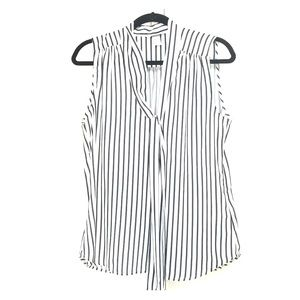 Blue and white stripped top with tie