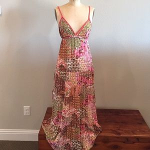 Zara size M coral print maxi dress. 🌞🌺🌸