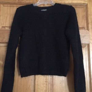 BIMO Black Sweater (Mohair-50,Acrylic-50)