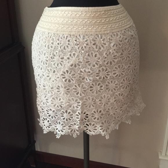 Dresses & Skirts - NWT Cream lace skirt