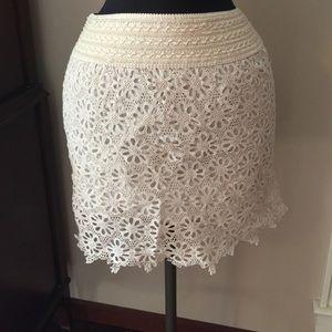 Skirts - NWT Cream lace skirt
