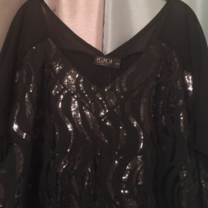 Igigi Tops - Igigi Sequined Blouse NWT