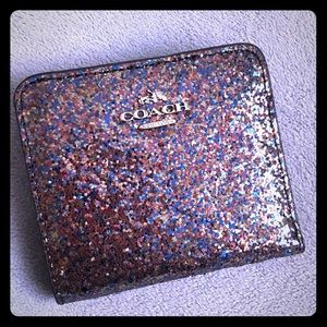 LAST ONE Coach Glitter Collection Small Wallet