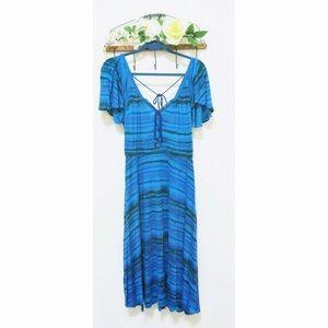 Plenty by Tracy Reese blue flutter dress
