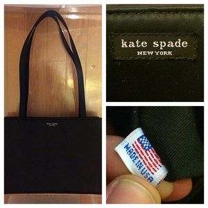 classic kate spade little black bag 💕