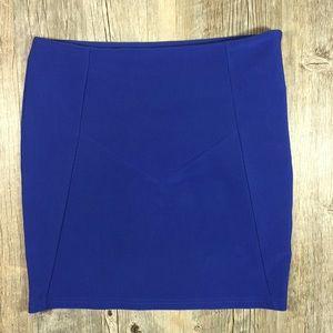 Millau Dresses & Skirts - Royal blue ribbed pencil skirt