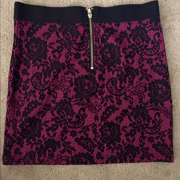 Divided Skirts - Divided by H&M pink black lace floral mini skirt