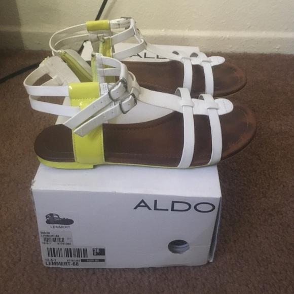 9e4eeba62 ALDO Shoes - Cute white and neon yellow ALDO sandals