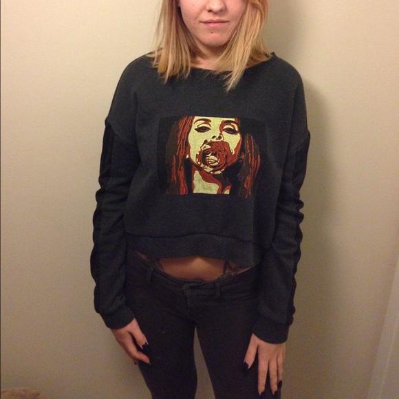Brandy Melville Tops Lana Del Rey Crewneck Sweatshirt Poshmark