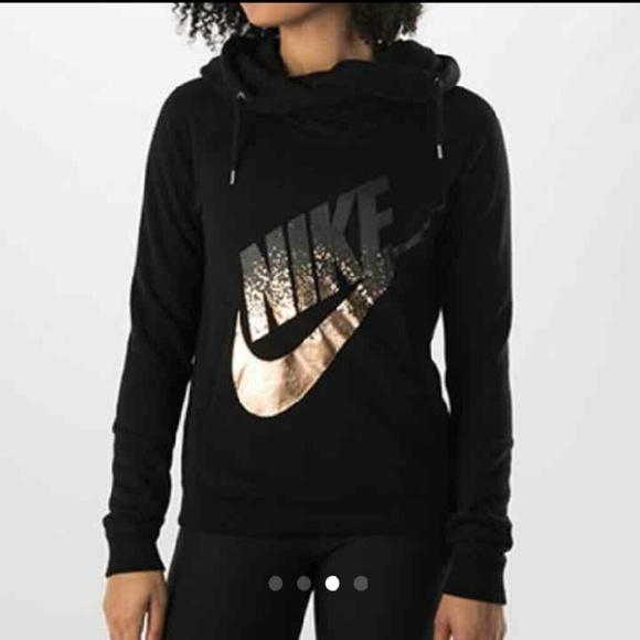 nike zip up hoodie gold