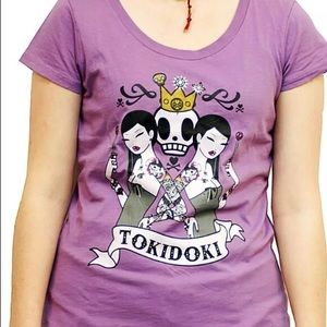 Tokidoki seeing double mauve purple graphic tee M