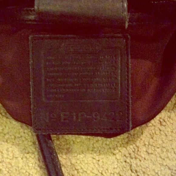 87ca5135823f Coach Handbags - Coach black vintage leather tote E1P 9422