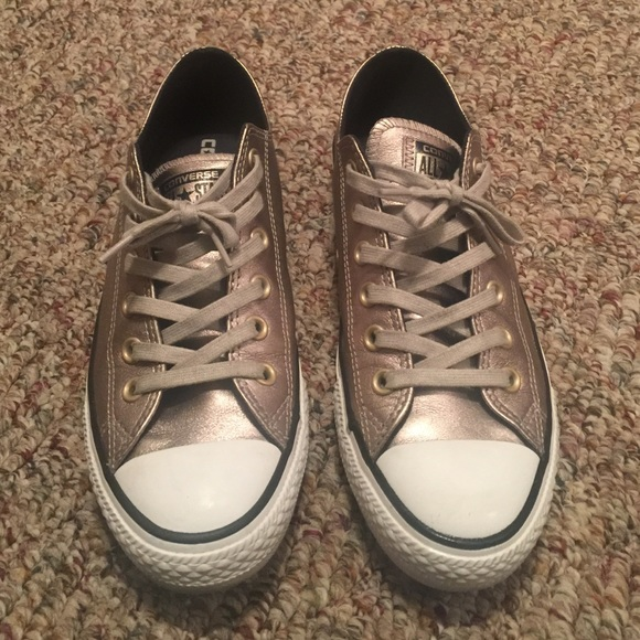 b14a8a6f137 Converse Shoes - Bronze women s leather converse size 8