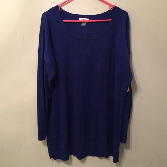 63% off Old Navy Tops - ROYAL BLUE TUNIC SWEATER from Kelsey's ...
