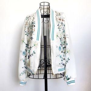 Zara Jackets & Coats - Zara Floral Bomber Jacket - Blogger Fave