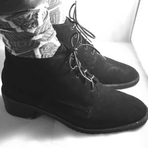 Bally Black Suede Booties 90s vintage