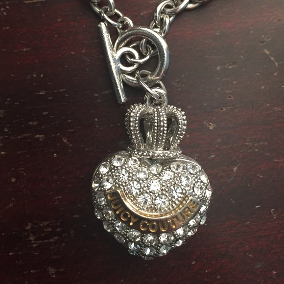 79% off Juicy Couture Jewelry - *SALE* Silver Pave Heart ...