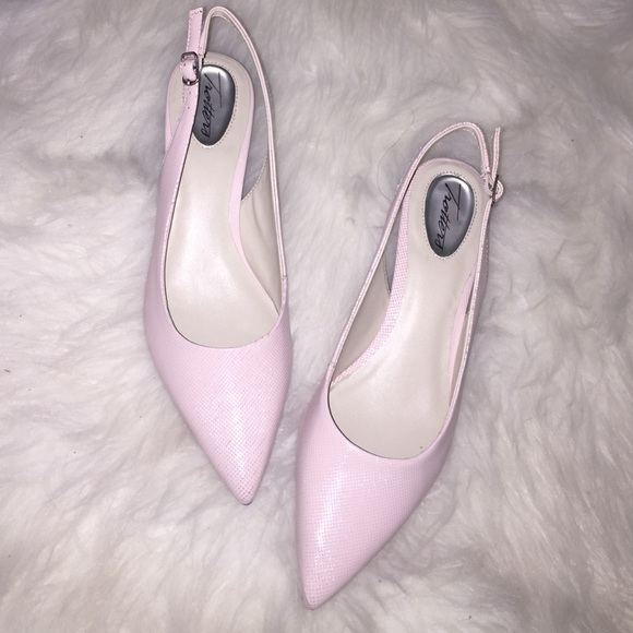 pale pink slingback shoes