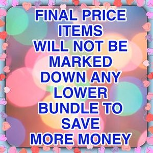 PRICE IS FIRM ITEMS
