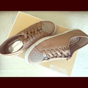 Gold studded Michael Kors sneakers